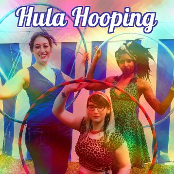 Hula hooping hen party Leicester at Skytribe studio